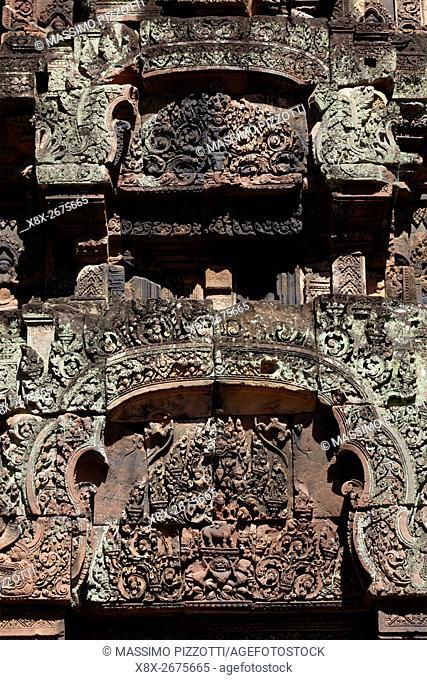 Banteay Srei temple, Angkor, Siem Reap, Cambodia