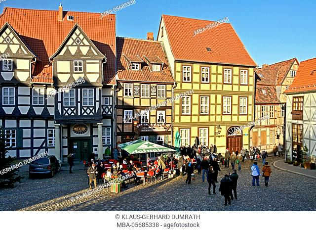 Quedlinburg, half-timbered houses in the old town