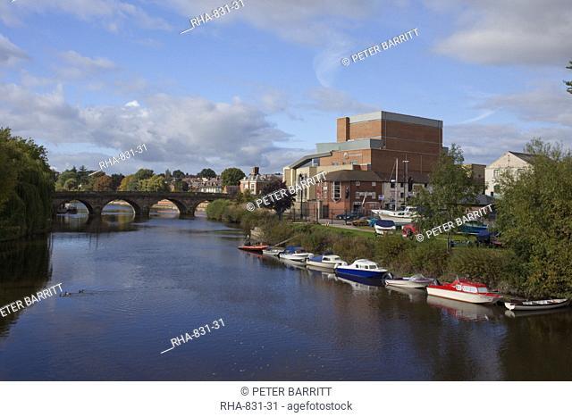 Theatre Severn and Welsh Bridge, Frankwell, Shrewsbury, Shropshire, England, United Kingdom, Europe