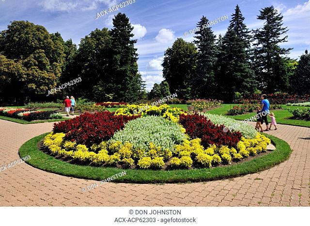 Flower beds in the Niagara Botanical Garden- Rose Garden area