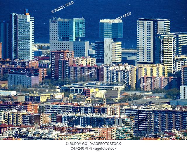 Hotels, Diagonal Mar, Barcelona, Catalonia, Spain