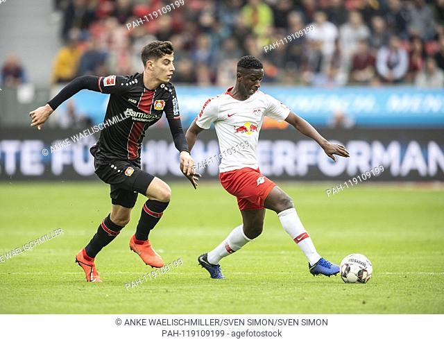 Amadou HAIDARA r. (L) in duels versus Kai HAVERTZ (LEV), Action, Football 1.Bundesliga, 28.matchday, Bayer 04 Leverkusen (LEV) - RB Leipzig (L) 2: 4, on 06