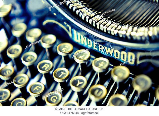 old typewriter detail