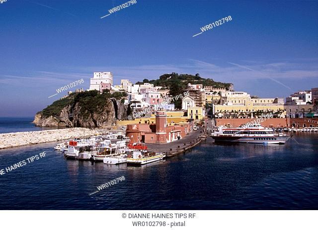 Italy, Lazio, Ponza Island, the harbour