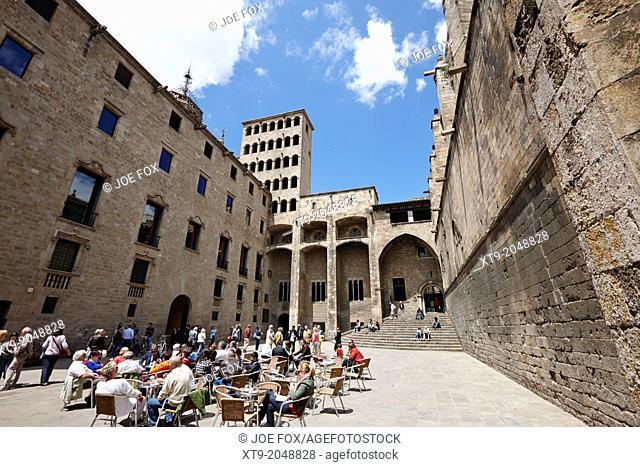 palace of lloctinent in palacio real mayor plaza del rey barcelona catalonia spain