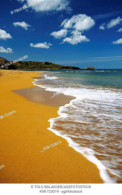 Beach of Cavalleria, Ferragut, Minorca. Balearic Islands, Spain