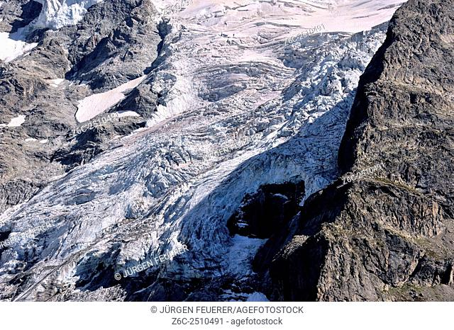 Glacier tongue of La Meije, Hautes-Alpes, French Alps, France