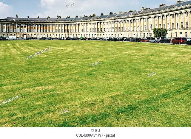 Royal Crescent and lawn, Bath, UK