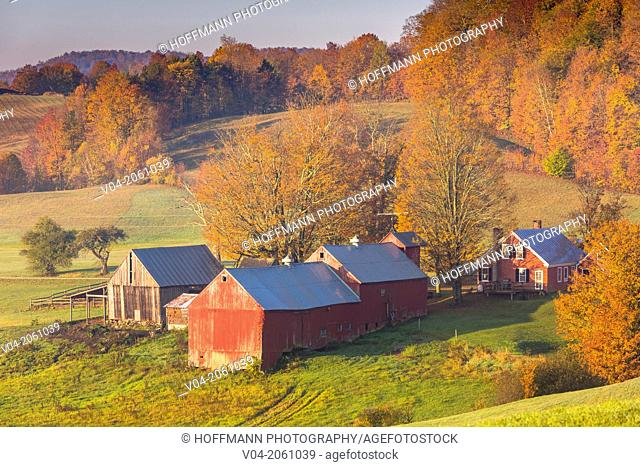 The beautiful Jenne Farm in the early morning, Vermont, USA