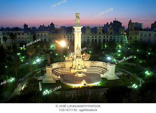 Plaza de España, Monument to the Parliament of year 1812, Cadiz, Spain