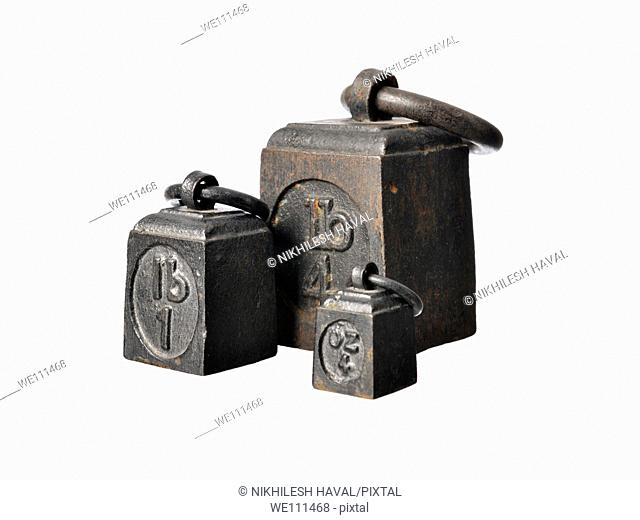 Old iron Imperial weights