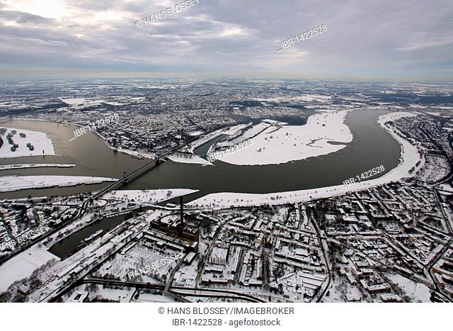 Aerial photo, inland harbour, Duisport, Duisburg Harbor, Ruhrort, Duisburg, Ruhr, North Rhine-Westphalia, Germany, Europe