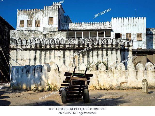 The old building near the Palace Museum in Stone Town, Zanzibar, Tanzania