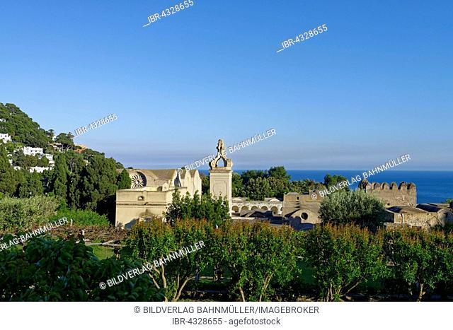 Certosa di San Giacomo, Carthusian monastery, Capri, Gulf of Naples, Campania, Italy