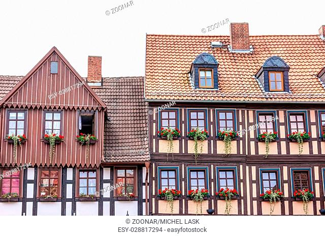 Half-timbered houses in Wernigerode, Germany
