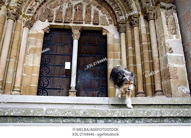 Leyre Monastery porch. Navarre. Spain