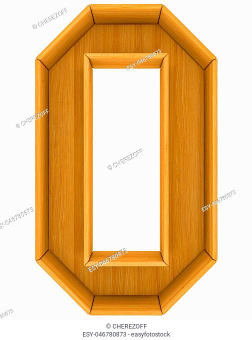 Wooden cabinet-letter. 3d illustration