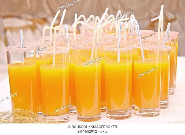 Orange cocktail drinks
