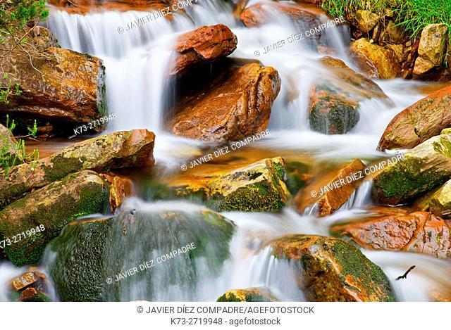 Waterfall. Saja-Besaya Natural Park. Cantabria. Spain