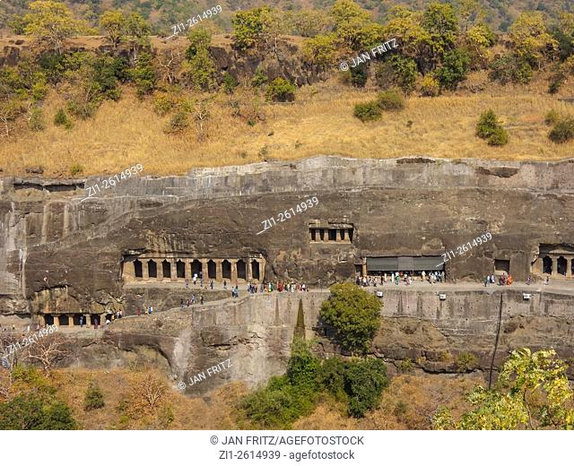 The famous Ajanta archeological site in Maharastra, India