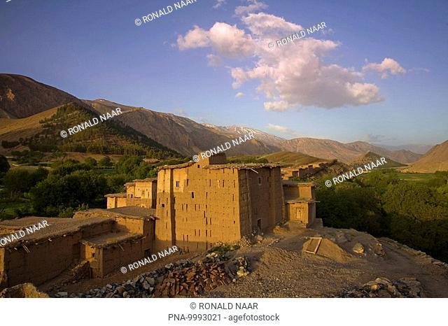 In the Valee des Aït Bouguemez, Central High Atlas, Morocco