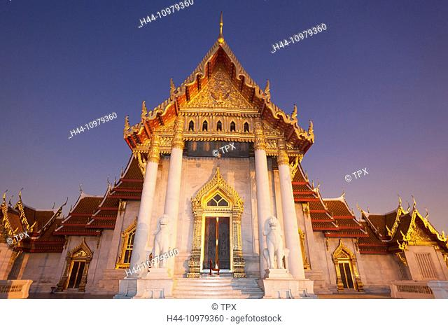 Thailand, Bangkok, Wat Benchamabophit aka The Marble Temple
