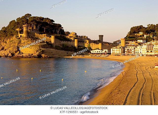 Tossa de Mar  Gran beach Costa Brava  Girona province  Catalonia  Spain