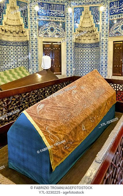 The türbe (mausoleum) of Hurrem Sultan in Süleymaniye Mosque at Fatih, Istanbul