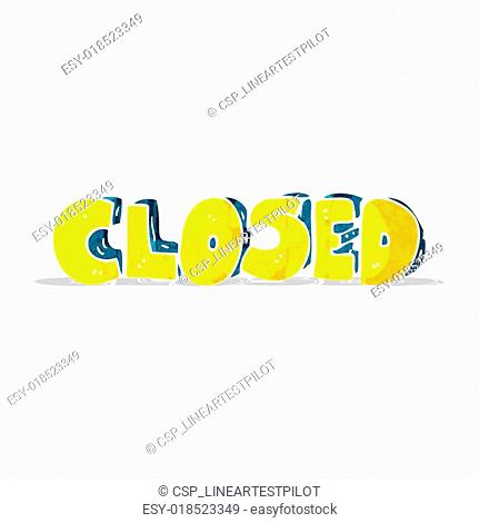 cartoon closed symbol