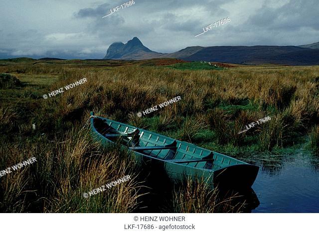 Suilven mountain, Sutherland, Scotland, Great Britain