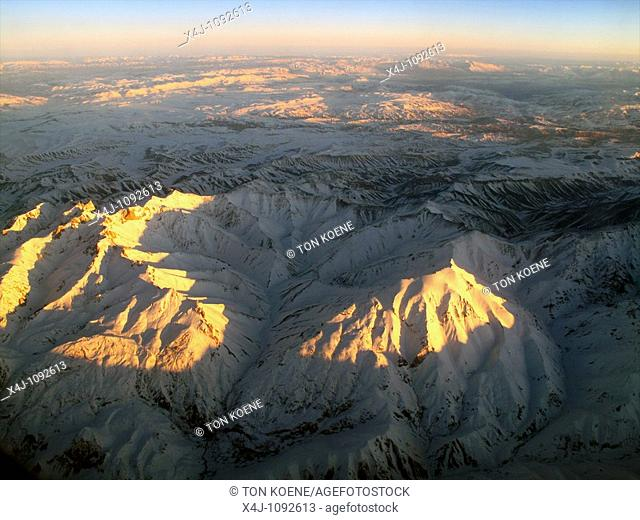 View from a plane on Afghanistan