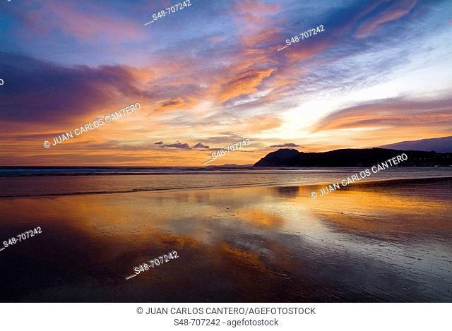 Beach at dawn, Laredo. Cantabria, Spain