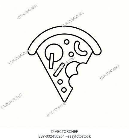 pizza line icon