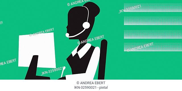 Pictogram of a secretary