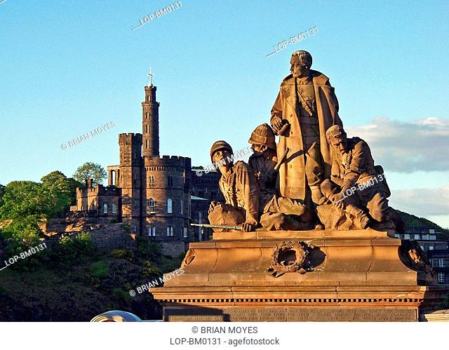 Scotland, Edinburgh, Edinburgh, A military statue and Calton Hill