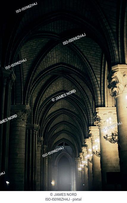 Arches in a church, Paris, France