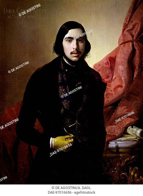 Portrait of Giulio Litta (Milan, 1813-1878), Savoy Cavalry officer. Painting by Giuseppe Molteni (1813-1879).  Milano, Quadreria Dell'Ospedale Maggiore