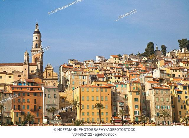 The Basilica of St-Michel-Archange in Menton, Provence, France, Europe