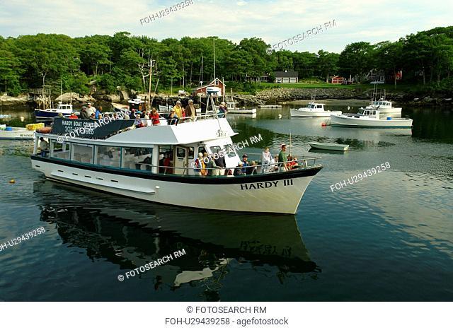 New Harbor, ME, Maine, Pemaquid, fishing harbor, Hardy Boat Cruises, Hardy III