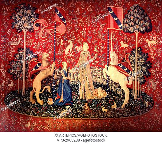 The Lady and the Unicorn, Allegory of Taste - Paris Musee De Cluny - 15th Century