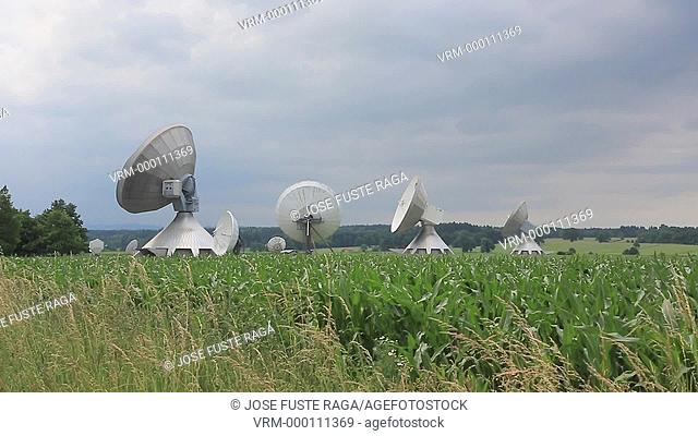 Germany, South of Munich City, Raistin City , antenas