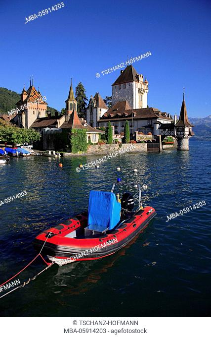 The castle Oberhofen is a castle at the municipality of Oberhofen at the Thunersee in the canton Bern, Switzerland