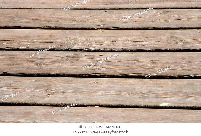 Horizontal photo of a worn down wooden