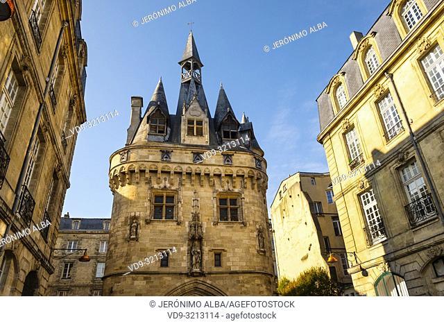 Port de Cailhau. Gateway to downtown of Bordeaux, Gironde. Aquitaine region. France Europe