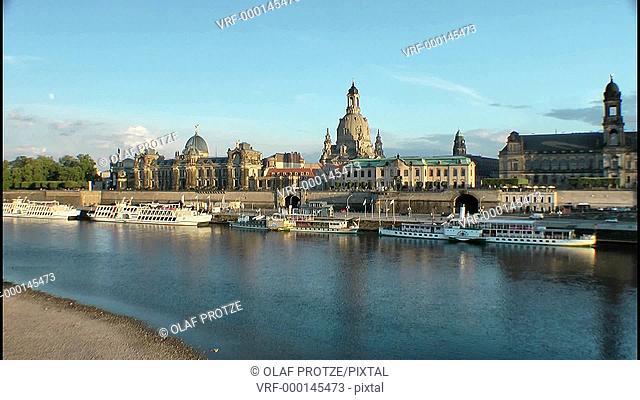 Historic Skyline of Dresden, East Germany