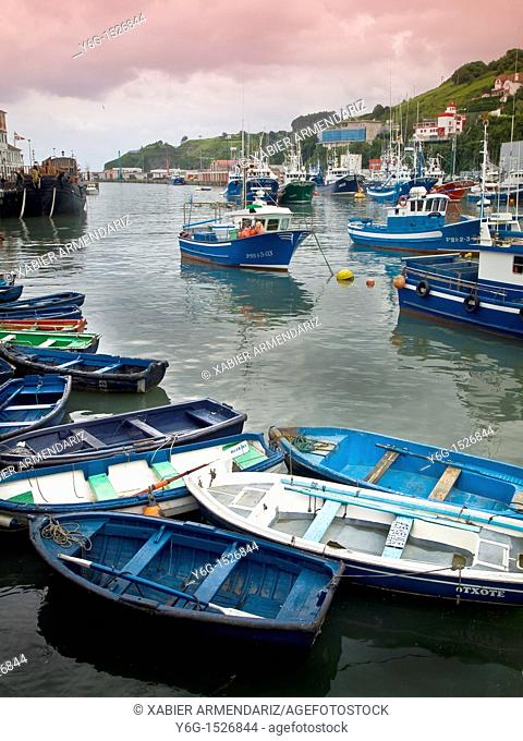 fishing port of Bermeo, biscay province, Euskadi, Basque country, Spain, Europe
