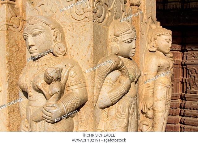 Carvings at Jagat shiromani, a Hindu temple situated in Amer, Rajastan, India