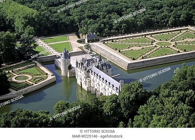 europe, france, loire valley, chateau de chenonceau