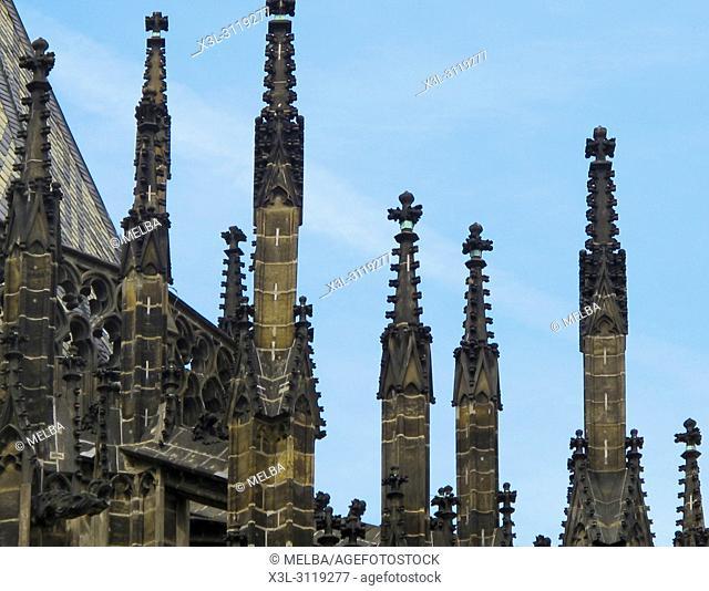 St. Vitus cathedral, Prague. Czech Republic