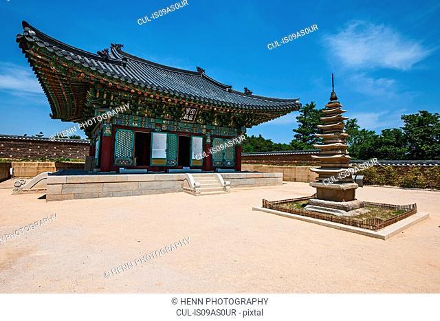 View of Naksansa Temple, Naksansa, Yangyang, Gangwon province, South Korea